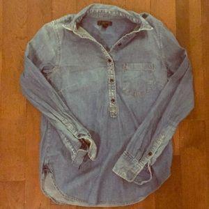 Half button denim shirt J Crew